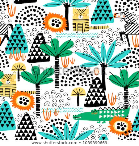 春 森林 シームレス テクスチャ 抽象的な デザイン ストックフォト © isveta