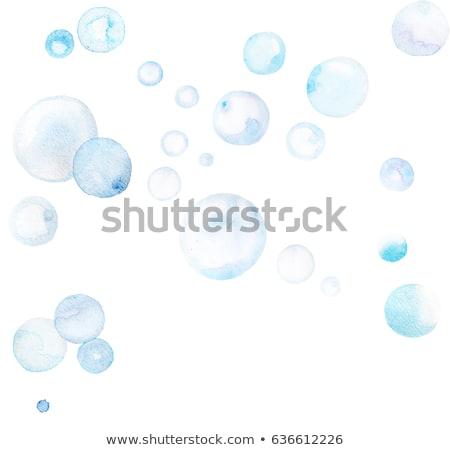 Aquarela bubbles ilustração bola voar branco Foto stock © Galyna