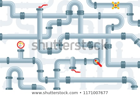 plumber connecting a water pipe stock photo © photography33