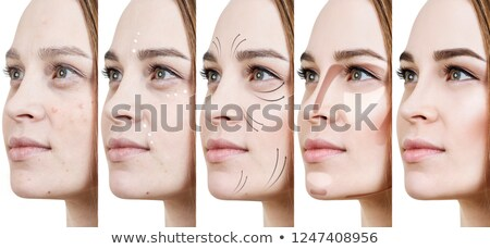 collage of a woman applying makeup stock photo © photography33