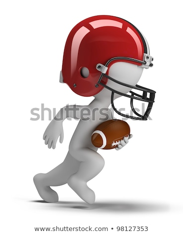 3d small people   american football stock photo © anatolym