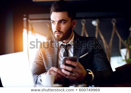 Szép férfi elegáns ruházat vektor mosoly Stock fotó © yura_fx