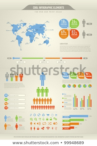 cool infographic elements for the web and print usage Stock photo © havlin_levente