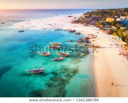 ボート 古い 現代 太陽 夏 ストックフォト © gant