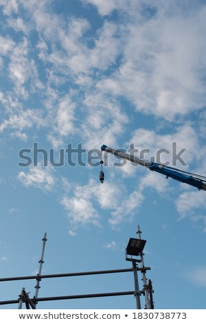 クレーン 曇った 日 ビッグ ビジネス 空 ストックフォト © gant