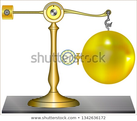 Stock photo: Counterweight suspended in the air