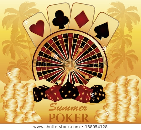 Tropical poker. vector illustration  Stock photo © carodi