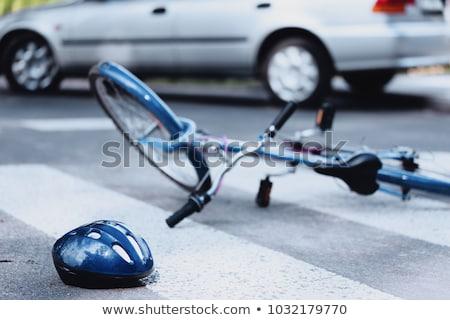 joelho · dor · bicicleta · ferimento · mulher · articulações - foto stock © ongap