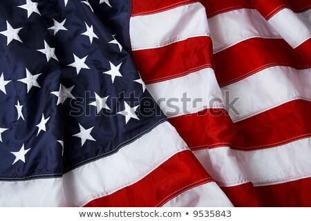 Amerykańską flagę shot studio tle gwiazdki banderą Zdjęcia stock © ozaiachin
