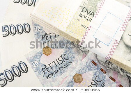 Czech Banknotes Nominal Value One And Two Thousand Crowns Zdjęcia stock © Artush