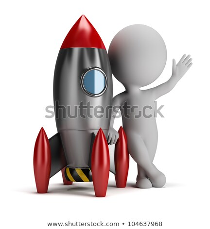 3d small people next to rocket Stock photo © AnatolyM