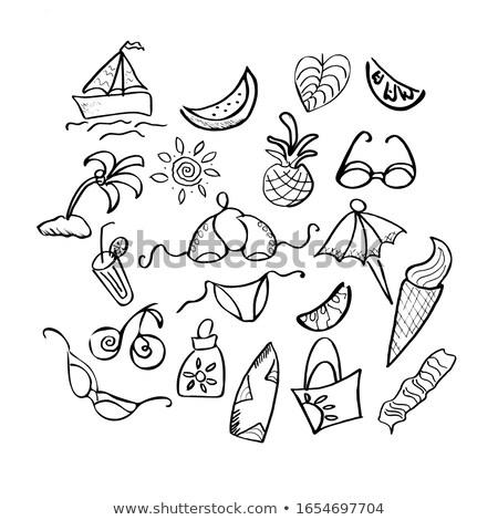 夏 熱帯 買い物客 ビキニ 空 少女 ストックフォト © carodi
