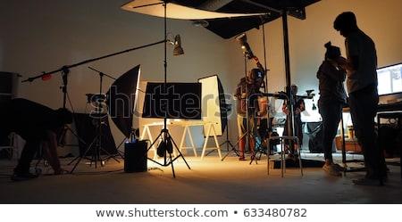 Kamery zestaw kolekcja kamery odizolowany biały Zdjęcia stock © romvo