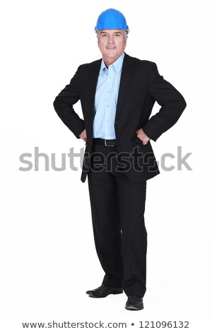 full-body picture of mature architect with arms akimbo Stock photo © photography33