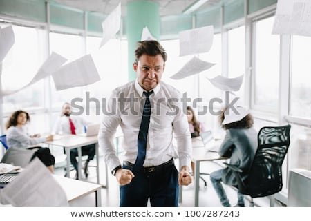 Stock photo: Angry businessman.
