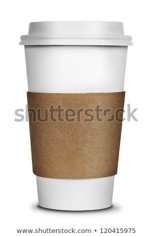 branco · copo · café · expresso · pequeno · isolado - foto stock © smoki