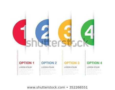 один два три вектора бумаги опции Сток-фото © orson