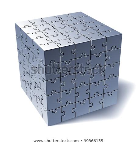 ジグソーパズル キューブ 一緒に 背景 ストックフォト © fixer00