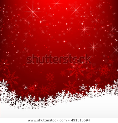 Christmas background with cute decorations stock photo © Elmiko