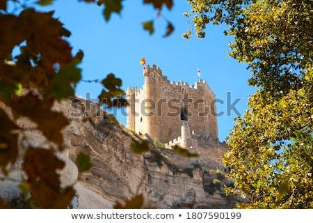 Vue Espagne coucher du soleil bâtiment nuit château Photo stock © Procy