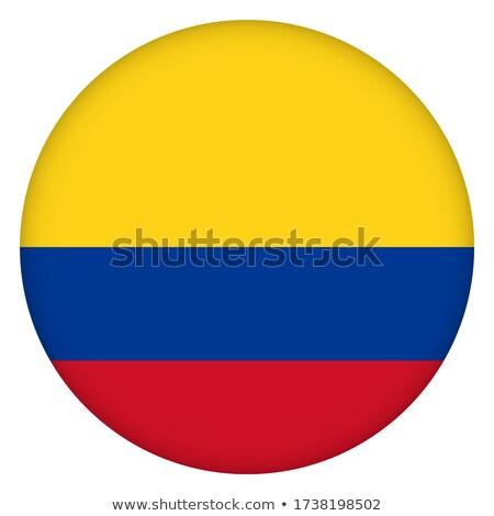 кнопки цветы Колумбия флаг стране Сток-фото © perysty