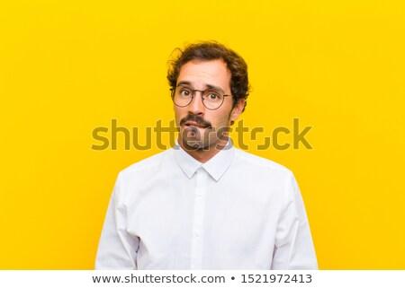 Onzeker zakenman pak corporate manager shirt Stockfoto © photography33