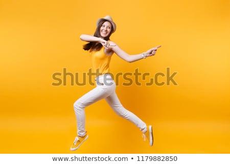 肖像 情熱的な 若い女性 孤立した 白 女性 ストックフォト © acidgrey