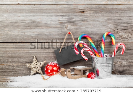 陽気な · クリスマス · 縞模様の · 星 · シンボル · 赤 - ストックフォト © marinini