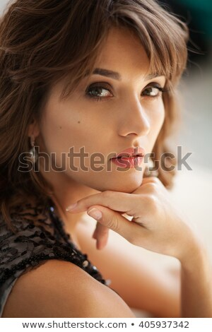 Foto stock: Retrato · mulher · leopardo · camisas
