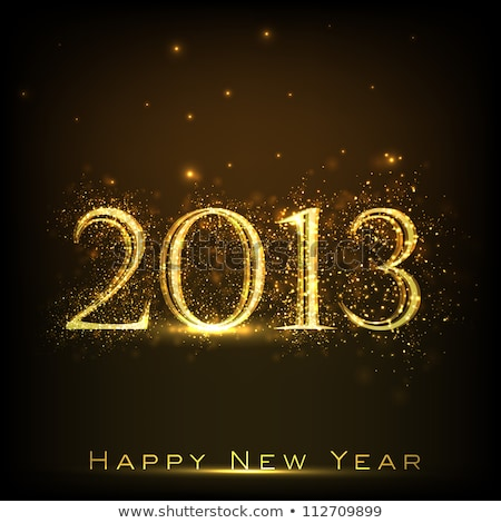 Vintage retro happy new year 2013 stock photo © thecorner