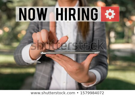 Apply Now On Screen Showing Job Recruitment Stock photo © stuartmiles