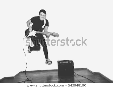 headbanging electric guitar player Stock photo © feedough