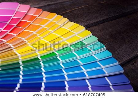 Festék szín paletta absztrakt vektor művészet Stock fotó © robertosch