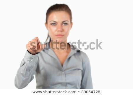 Mujer de negocios invisible clave blanco Foto stock © wavebreak_media
