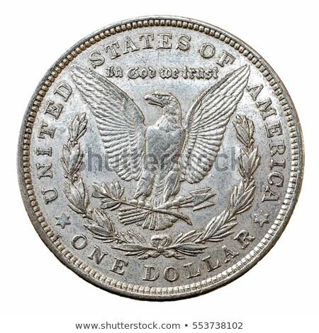 старые серебро долларов США деньги мира Сток-фото © sframe