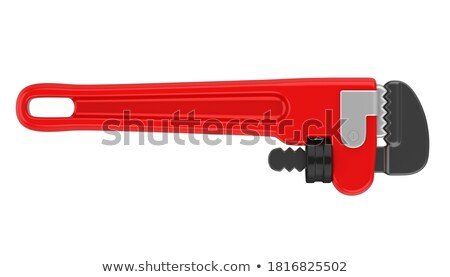 red pipe wrench stock photo © jarenwicklund