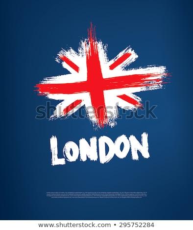 Flagge · Großbritannien · weiß · isoliert · 3D · Bild - stock foto © cgsniper