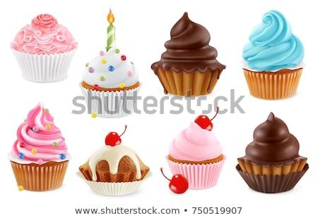 ayarlamak · doğum · günü · kekler · şeker · pasta · vektör · simgesi - stok fotoğraf © yupiramos