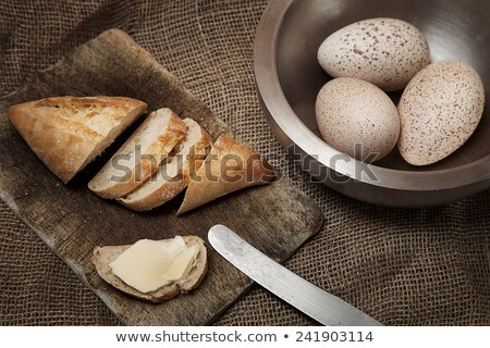 rye buns with a linen fabric and a old knife Stock photo © Rob_Stark