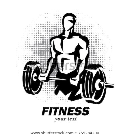 Sterke lichaam bouwer gewichten dode Stockfoto © koqcreative
