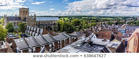 Kathedrale england blauer Himmel Wolken Kopie Raum Struktur Stock foto © Snapshot