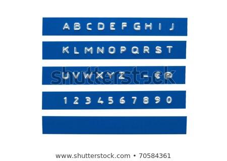 Niebieski etykiety odizolowany klawiatury wydruku Zdjęcia stock © TeamC