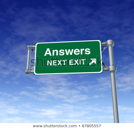 Stockfoto: Freeway Sign - Answers