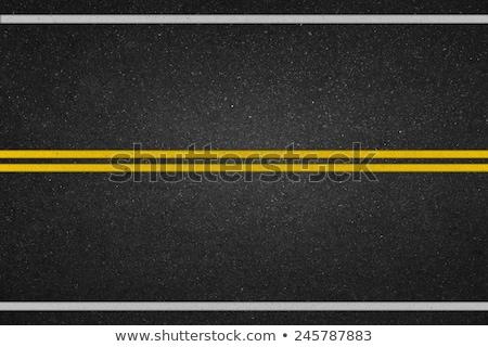 Amarillo línea pista asfalto detalle textura Foto stock © Bertl123