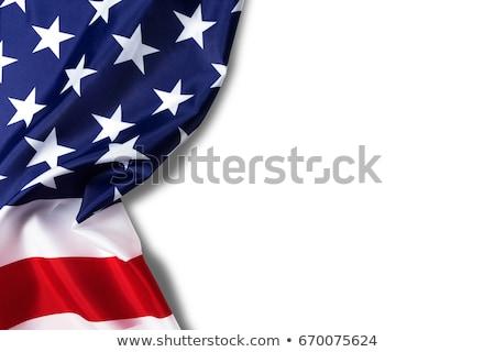 Coeur drapeaux texture isolé blanche amour Photo stock © SolanD