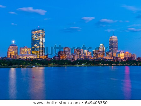 Boston · atrás · panorama · esmeralda · collar · cielo - foto stock © gophoto