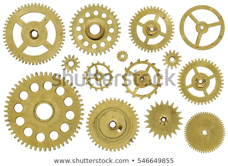 Gold gears old clockwork Stock photo © Vladimir