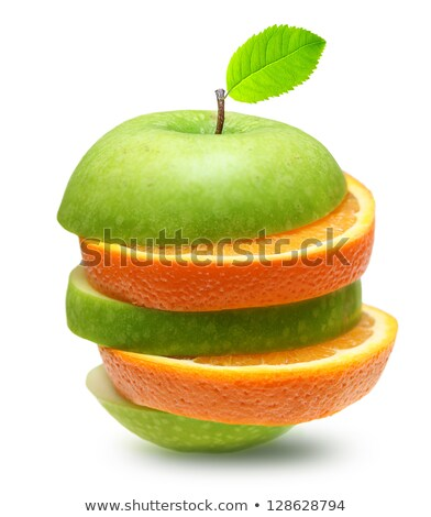 ストックフォト: 明るい · オレンジ · リンゴ · 白 · 食品 · フルーツ