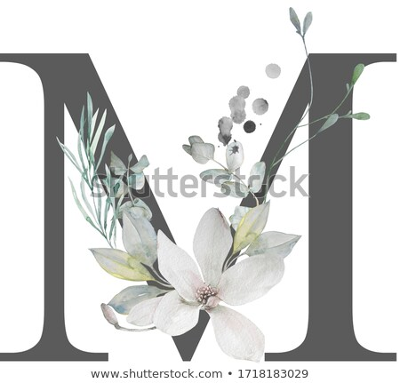 M alphabet logo Stock photo © shawlinmohd