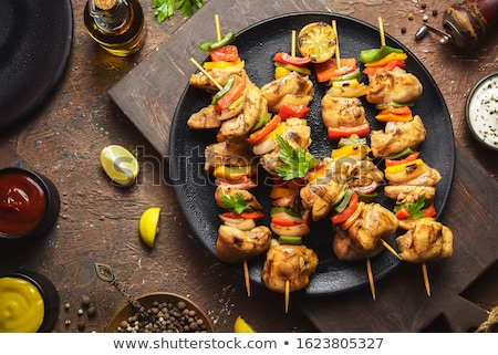Tradicional turco frango prato peças marinado Foto stock © silkenphotography